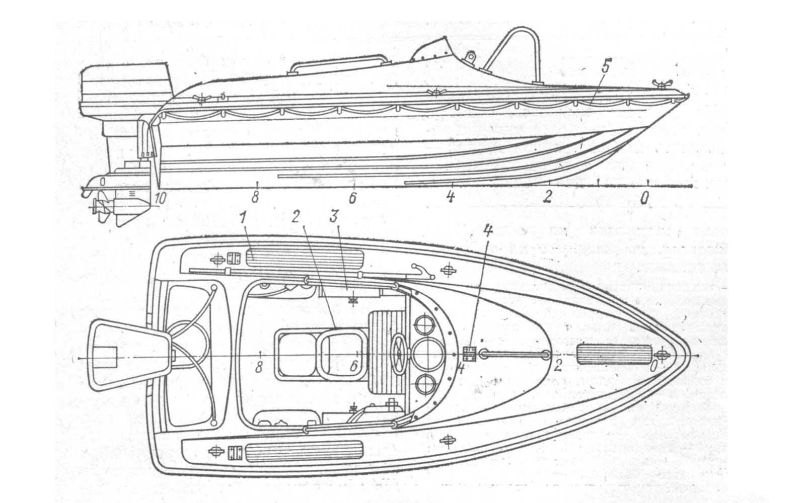 Чертежи лодки стеклотканью