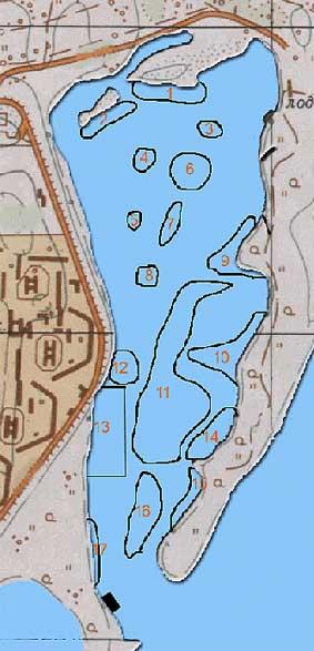 карта днепра рыбаку